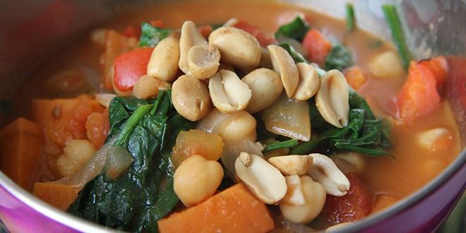 Receta estofado africano cacahuetes Salud Vegana