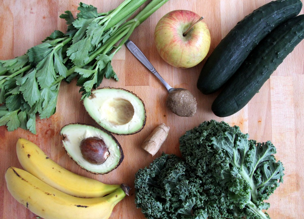Ingredientes green smoothie bowl