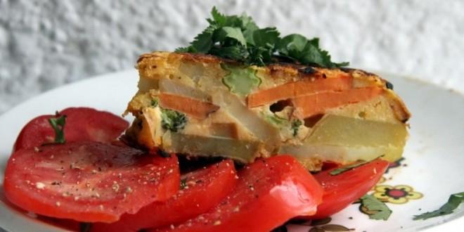 Tortilla española sin huevo