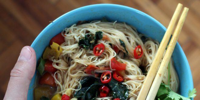 Sopa de miso con verduras